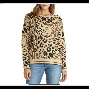 Rachel Roy Animal Print Sweater